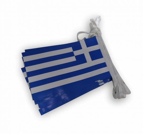 σχολικες σημαίες ελληνικες χαρτινες σε γιρλαντα κοκκώνης