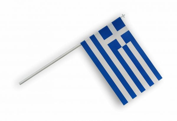 Χάρτινο Ελληνικό Σημαιάκι 10Χ15 σε κονταράκι