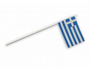 σχολικες σημαίες ελληνικες χαρτινες σε κονταρακι
