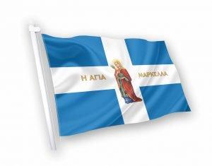 Αγια μαρκελα Σημαία με εικόνα αγίου κοκκωνης