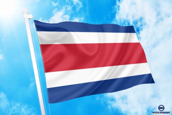 ΓΟΡΑ-ΤΙΜΕΣ-ΣΗΜΑΙΕΣ-χωρων -κρατων διαστασεις-ΚΟΚΚΩΝΗΣ---- Κόστα Ρίκα σημαια κοκκωνης σημαιες costa rica flag