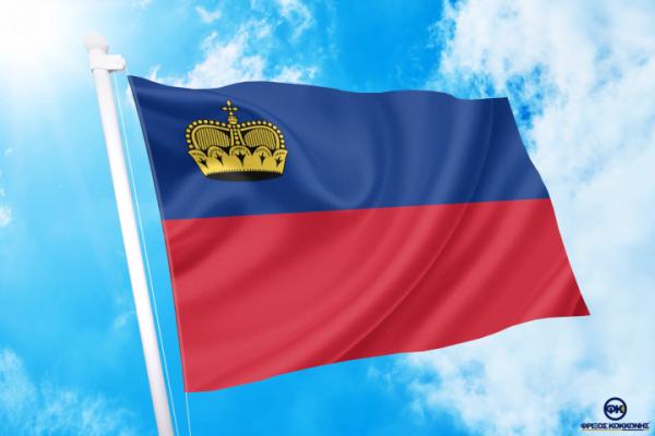 ΓΟΡΑ-ΤΙΜΕΣ-ΣΗΜΑΙΕΣ-χωρων -κρατων διαστασεις-ΚΟΚΚΩΝΗΣ---- Λίχτενσταϊν σημαια κοκκωνης σημαιες liechtenstein flag