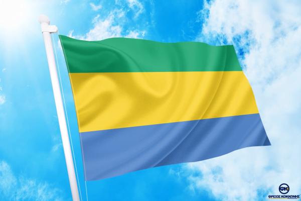 ΑΓΟΡΑ-ΤΙΜΕΣ-ΣΗΜΑΙΕΣ-χωρων -κρατων διαστασεις-ΚΟΚΚΩΝΗΣ---γκαμπον σημαια κοκκωνης σημαιες gabon flag