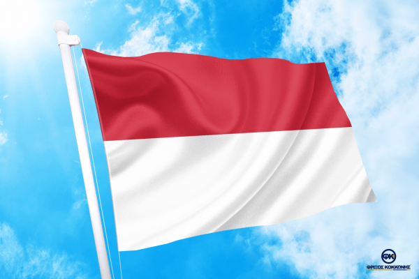 ΑΓΟΡΑ-ΤΙΜΕΣ-ΣΗΜΑΙΕΣ-χωρων -κρατων διαστασεις-ΚΟΚΚΩΝΗΣ---- ινδονησια σημαια κοκκωνης indonesia σημαιες flag