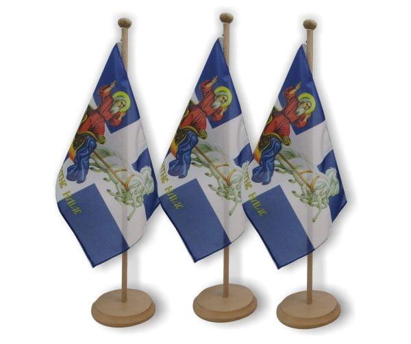 σημαια με εικονα αγιου