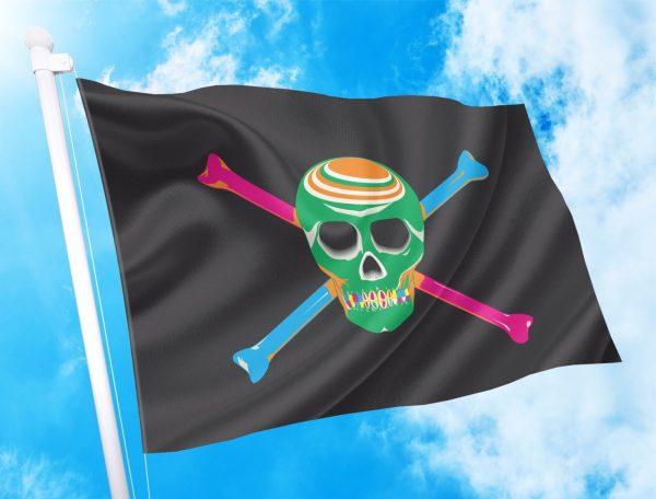 πειρατικη σημαία για διακόσμηση beach bar
