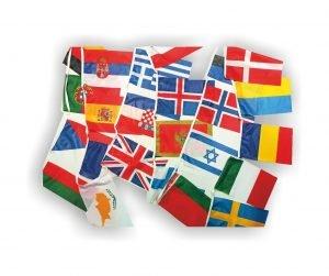 Γιρλάντα με Σημαιάκια Χωρών