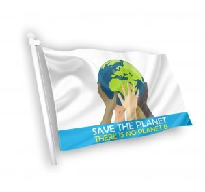 SAVE THE PLANET FLAG