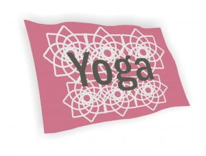 σημαια yoga για γυμναστηρια και studios